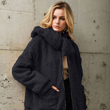 Get more info on the Maternity Coat Women's Autumn Winter Hooded Keep Warm Outwear Female Casual Pregnant Woman Loose Blend Coat Faux Fur Ladies