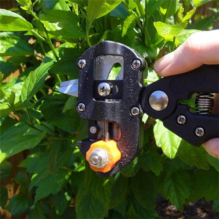 Купить с кэшбэком Garden Tools Grafting Pruner Chopper Vaccination Cutting Tree Gardening Tools with 2 Blade Plant Shears Scissor Dropshipping