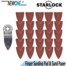 Newone starlock 指ポリッシュ鋸刃とサンドペーパーセットフィット電源振動ツールため木金属セラミックより