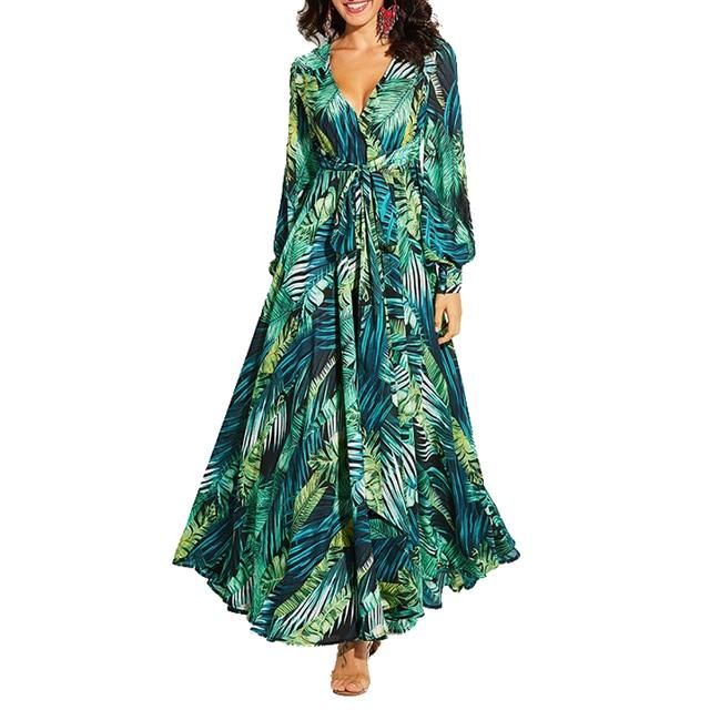 long floral print boho maxi dress 1