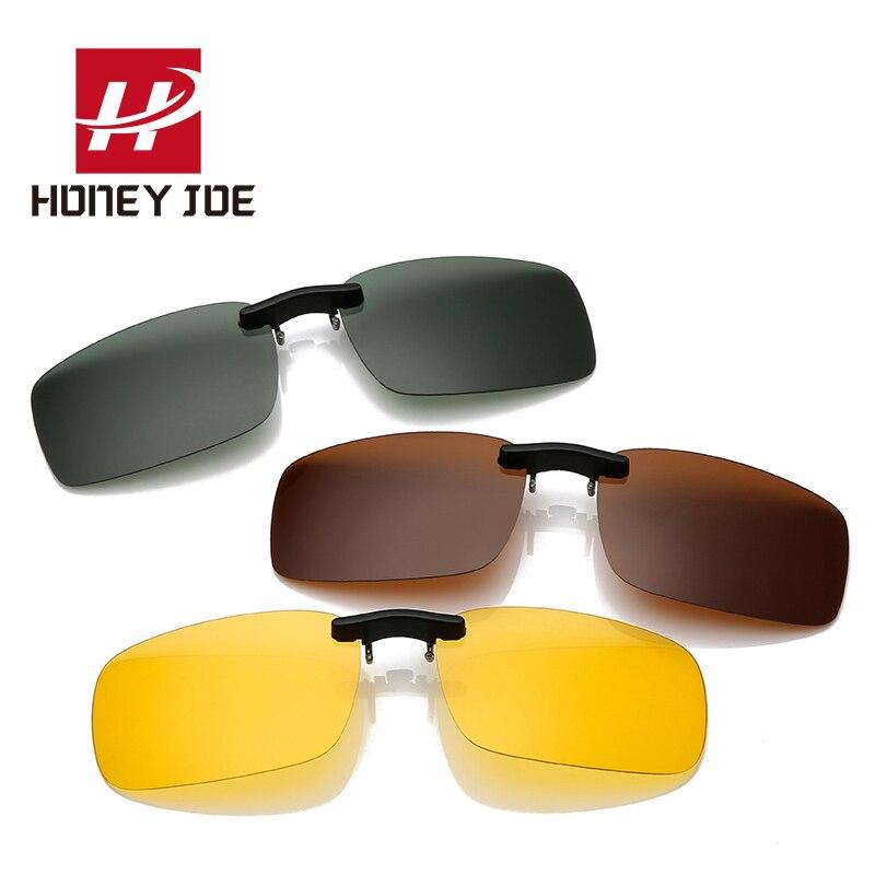Vintage Polarized Sunglasses Clip On Driving Sun Glasses Men Women Day Night Vision Lens For Myopia Glass UV400 Fishing Eyewear