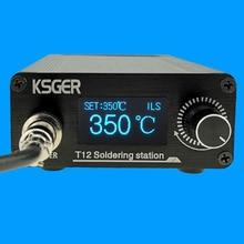 KSGER T12 سبيكة لحام محطة STM32 V3.1S OLED لتقوم بها بنفسك البلاستيك FX9501 مقبض أدوات كهربائية سريعة التدفئة T12 الحديد نصائح 8s علب