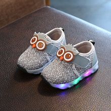 Casual-Shoes Running Glowing Sneakers Toddler Girls Baby Breathable Boys Cartoon Children's