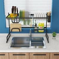 Shelf Kitchen Storage Stainless Steel Organizer Dish Drying Rack Over Sink Utensils Holder Bowl Dish Draining