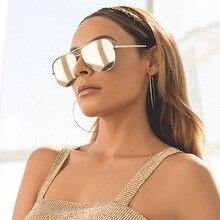 2021 новые модные брендовые дизайнерские женские солнцезащитные очки-авиаторы для женщин и мужчин, очки с градиентом, солнцезащитные очки дл...