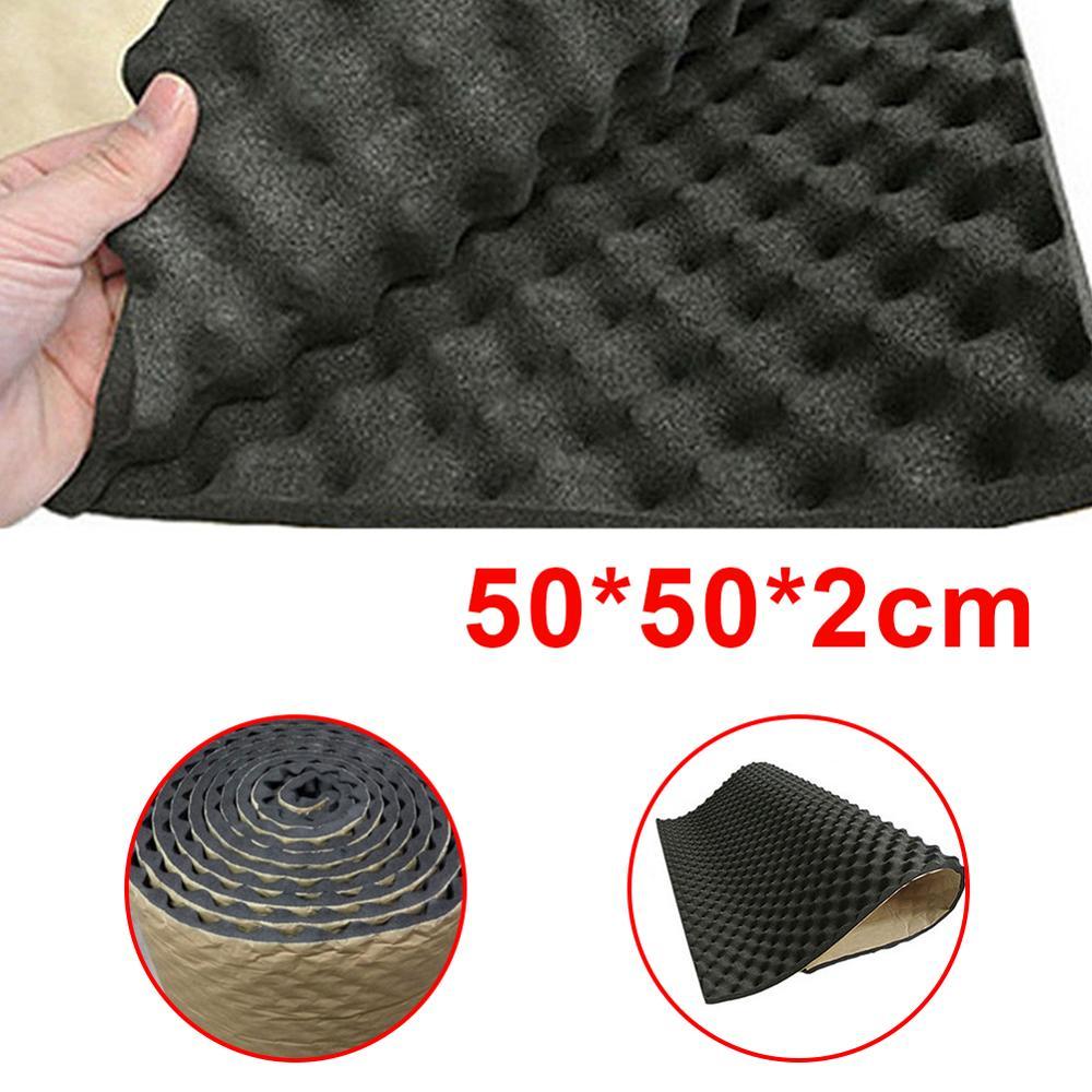 1pc 100*50*2cm Car Sound Deadener Mat Sound Deadening Noise Insulation Acoustic Dampening Foam Subwoofer Mat Autos Accessories