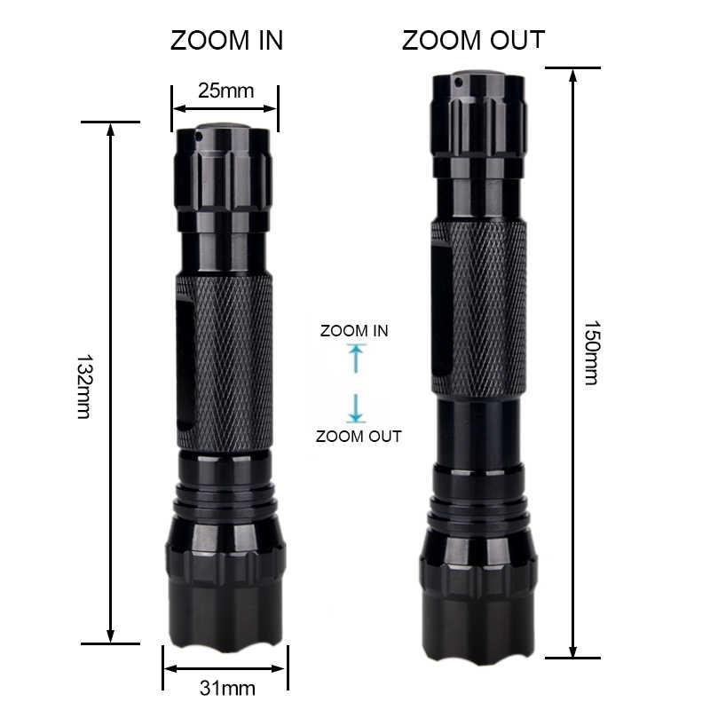 Vastfire arma com zoom 300 jardas, armas luz verde/vermelho lanterna predador varmint hog caça airsoft tocha + 18650 + carregador usb usb