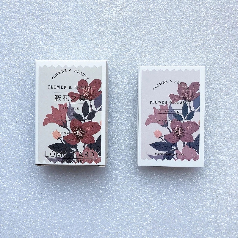 28 Sheets/Set Kawaii Flower and Beauty Lomo Card Mini Postcard Greeting Card Message Card Gift Stationery