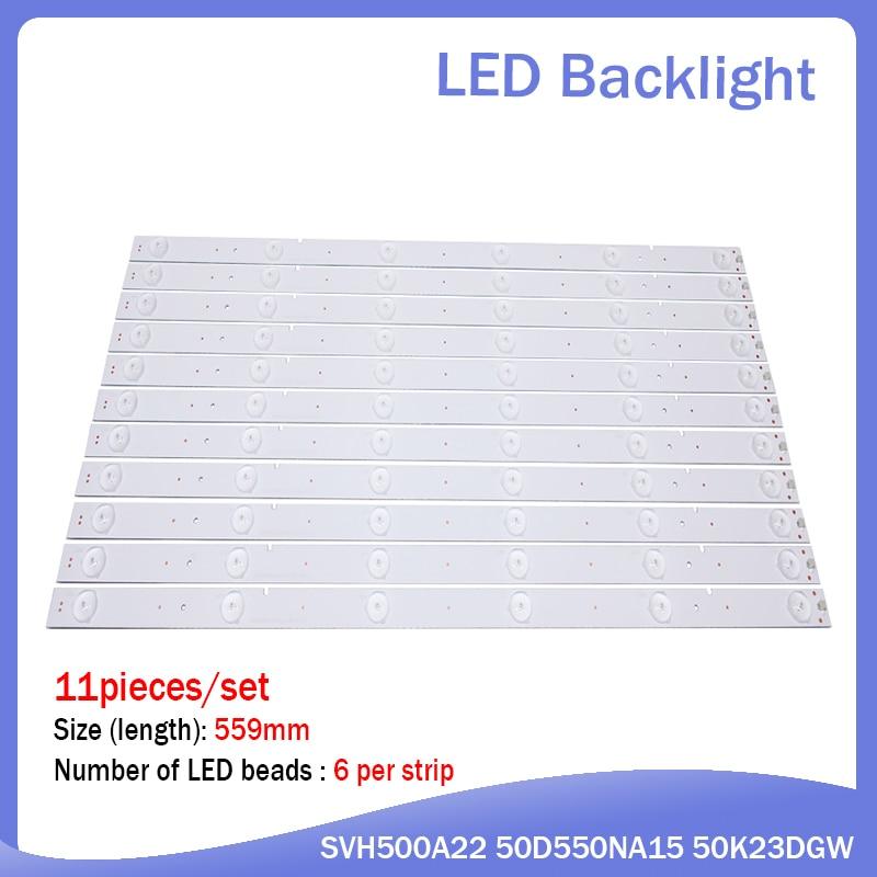 New 5set=55 PCS 6 LEDs 559mm LED Backlight Strip For LED50EC280JD LED50K20JD LED50K320U SVH500A22 REV05 6LED 131113
