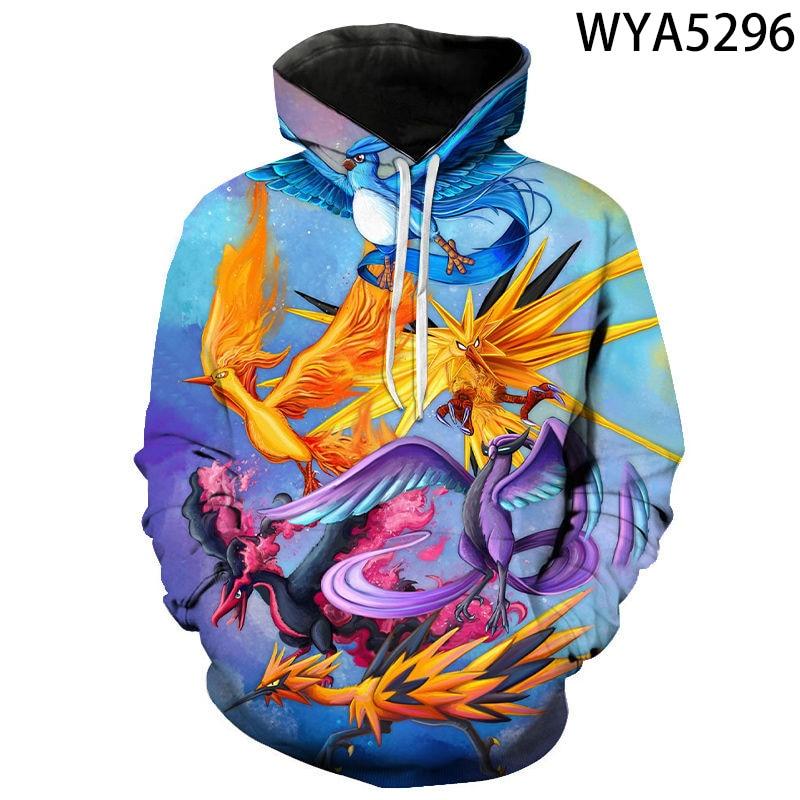 2020 New Fashion Games Pokemon 3D Printed Hoodies Cool Sweatshirts Men Women Children Fashion Pullover Boy Girl Kids Coat 4