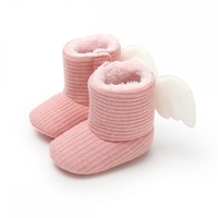 Autumn Winter Cotton Thread Baby Soft Bottom Non-slip Toddler Shoes Newborn Infant Super Warm Wings Slip-On Soft Baby Crib Boots