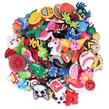 Shoe-Charms-Accessories Cartoon Fit-Bracelets Flower-Jibz Crystal Animals Mail1000pcs
