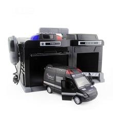 1:32 symulacja Parking Model dzieci edukacyjne zabawki policja Alloy garaż samochodowy wywołanie maszyna schowek chłopcy prezent CT0149