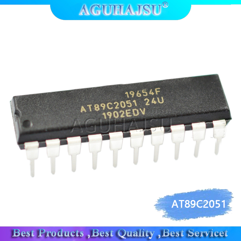 2pcs/lot Line AT89C2051-24PU microcontroller 8 <font><b>8051</b></font> 2K Flash DIP-20 new original image