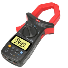 Uni-t UT205 Power Factor 3999-count 1000A Current Voltage Digital Clamp Meter LCD Backlight Multimeter 40mm Jaw Opening Meters