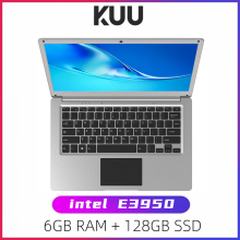 KUU SBOOK M -2 13.3 inch Student Laptop 6GB RAM 128GB SSD Notebook For intel E3950 Quad Core With Webcam Bluetooth WiFi Office