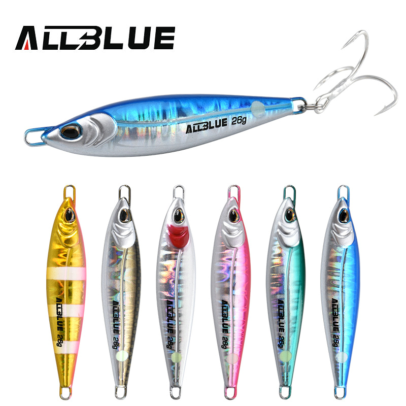 ALLBLUE LEVIN Metal Jig Spoon Artificial Bait Cast Jigging Fishing Lure Super Hard Lead Fish Off Shore Casting Saltwater Tackle