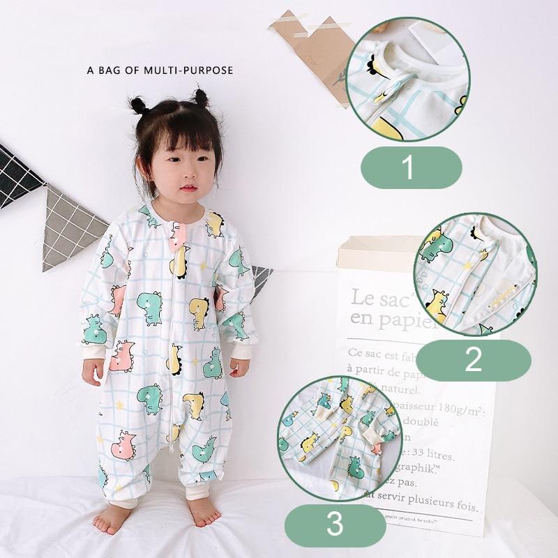 Baby Boys Dinosaur Printing Pajamas Spring Fall Kids Thin Cotton Sleepers 2021 New 1-6T Cute Romper Sleepwear Infant Homewear