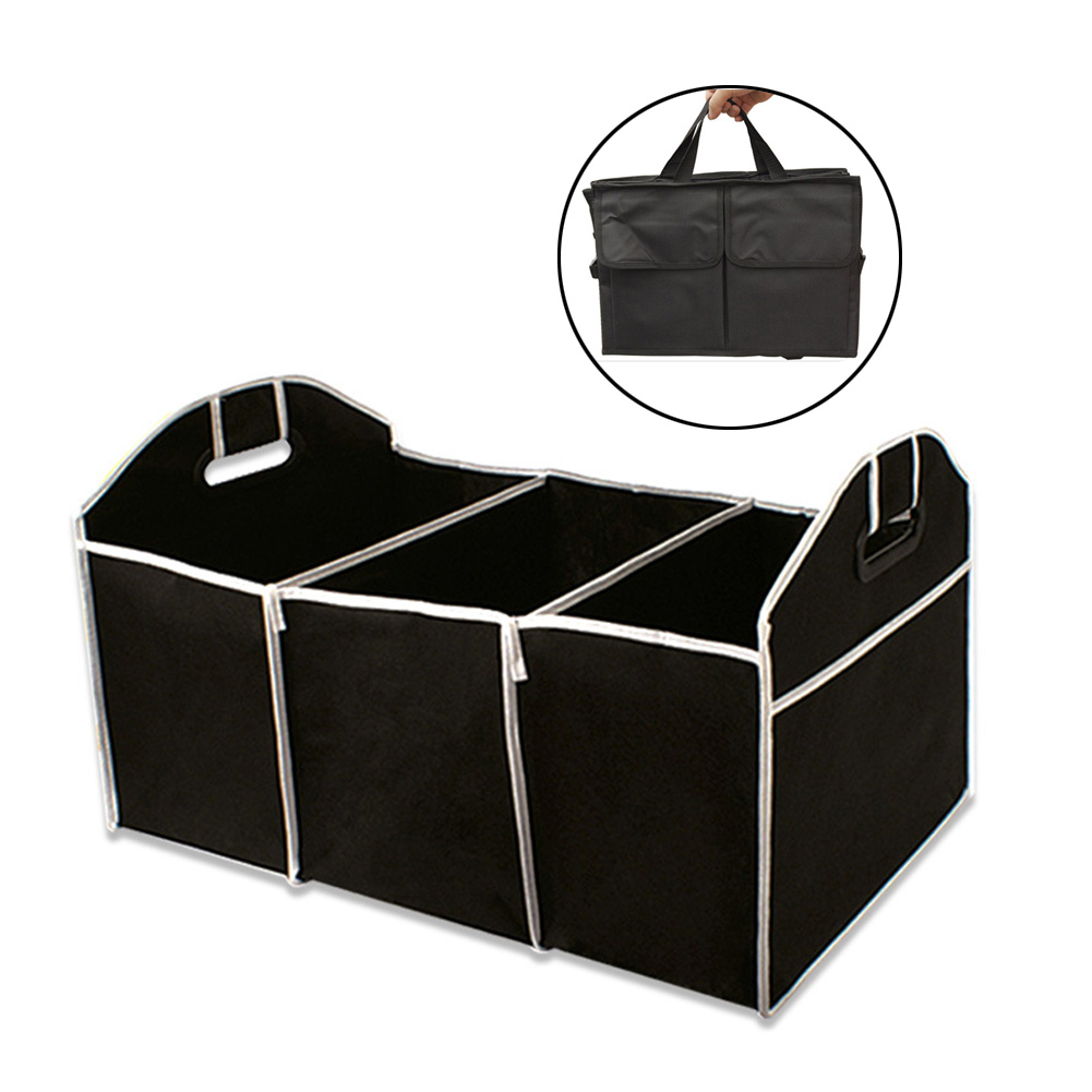 Car Boot Tidy Bag Storage Box Trunk Organiser Travel Holder Foldable Collapsible