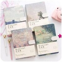 2020 koreanische Kawaii Vintage Blume Notebook Journal Tagebuch Wöchentlich Planer Veranstalter Papier Notizblock A5 Agenden Vier inneren seiten