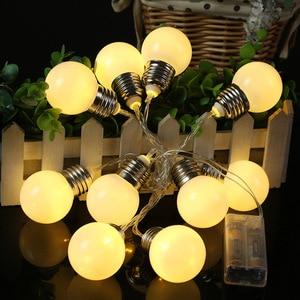 Светодиодный Глобус лампа гирлянда светильник на батарейках шаровая гирлянда Сказочный светильник s Рождественская гирлянда Свадебные ве...