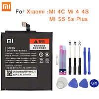 Xiao mi batterie de téléphone d'origine BM35 pour Xiao mi 4C mi 4 4S mi 5S 5s Plus BM36 BM37 BM38 BM32 batterie de remplacement au détail