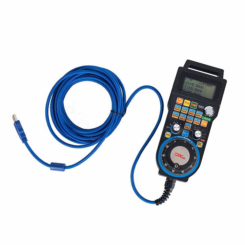 Controle eletrônico da roda de mão LHB04B 4/6 do sistema mach3 do controle com fio de usb do punho cnc para a trituração do cnc