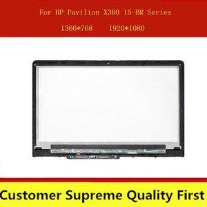 15,6 ''925711-001 аккумулятор большой емкости FHD IPS ЖК-дисплей сенсорный Экран Ассамблеи + доска для струйного принтера HP Pavilion X360 15-BR 15-BR158CL 15-BR082WM ...