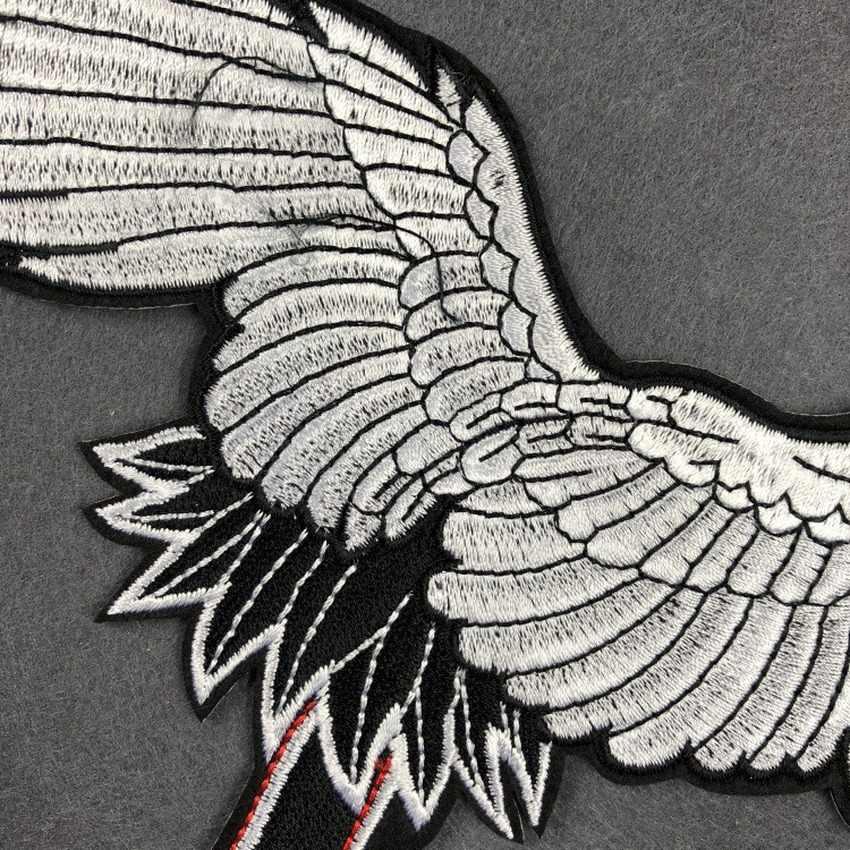 Neue Rot-Gekrönt Kran Vögel Patches Nähen Stoff Aufkleber für Kleidung Abzeichen Gesticktes Eisen auf Patch für Kleidung Appliques DIY