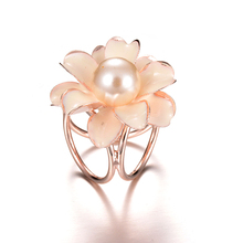 Gariton New Best Deal Fashion Good Quality Tricyclic Camellias Imitation Pearl Scarf Holder Brooch Clips Jewelry