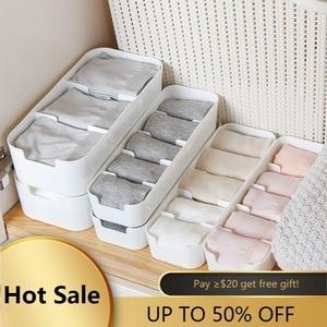Underwear Sock Storage Organizer Desktop Drawer Cosmetics Makeup Boxes Closet Organizers Boxes for Bras Briefs Socks Ties Scarfs