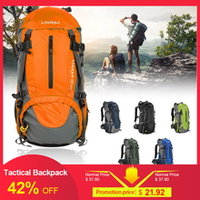 Lixada 50L Tactical Backpack Hiking Military Rucksack Climbing Backpack Water Resistant Outdoor Sport Camping Equipment