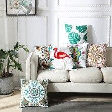 ZENGIA geométrico bohemio funda de cojín bordada Vintage flor bordado funda de almohada étnica funda de almohada para sofá hogar Decoratio