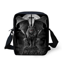 NOISYDESIGNS Gothic Horror Print Handbags Messenger Bags Crossbody Bag Mini Bookbag Schoolbag Daily Shoulder Satchel