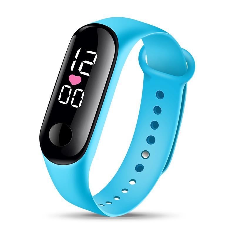 Мода браслет часы дети часы детские для девочек мальчиков спортивные наручные электронные светодиодные цифровые часы студент ребенок часы