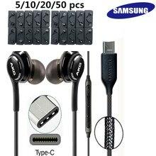 SAMSUNG AKG – écouteurs intra-auriculaires, type-c, pour Galaxy NOTE 10 10 + NOTE 20 ultra S20 S21 ultra, 5/10/20/50 pièces, vente en gros