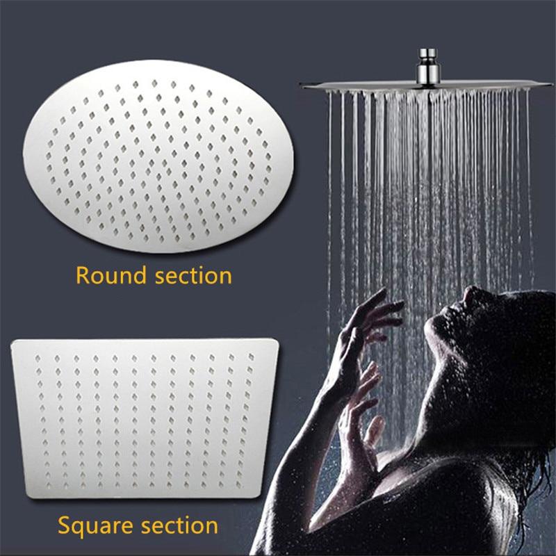 Bathroom Shower Set, Pressurized Water-saving Top Shower, Stainless Steel Bathroom Shower