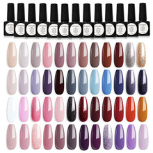Gel Nail Polish All For Manicure Cat Eye Art Set Mirineer Glitter Shiny Color UV LED lacquer Soak Off Matte Top Coat
