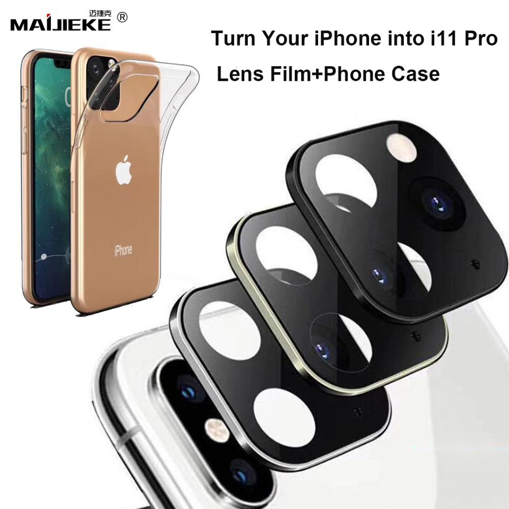Rear Camera Protector Film Stick For IPhone X Xs Max Back Camera Protector For IPhone 11 Pro Max Fake Camera Sticker With Case