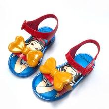 Disney meninas 2021 novo mini melissajelly sapatos crianças sandálias de praia princesa doces antiderrapante melissa sandálias