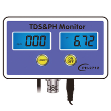 ec cf tds ph c f multifunction 6 in 1 ph meter water quality meter with rechargeable battery tri scale screen display TDS&PH Monitor Aquarium Water Quality Detector Aquarium Long-term Monitor PH Tester Meter