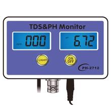 цена на TDS&PH Monitor Aquarium Water Quality Detector Aquarium Long-term Monitor PH Tester Meter