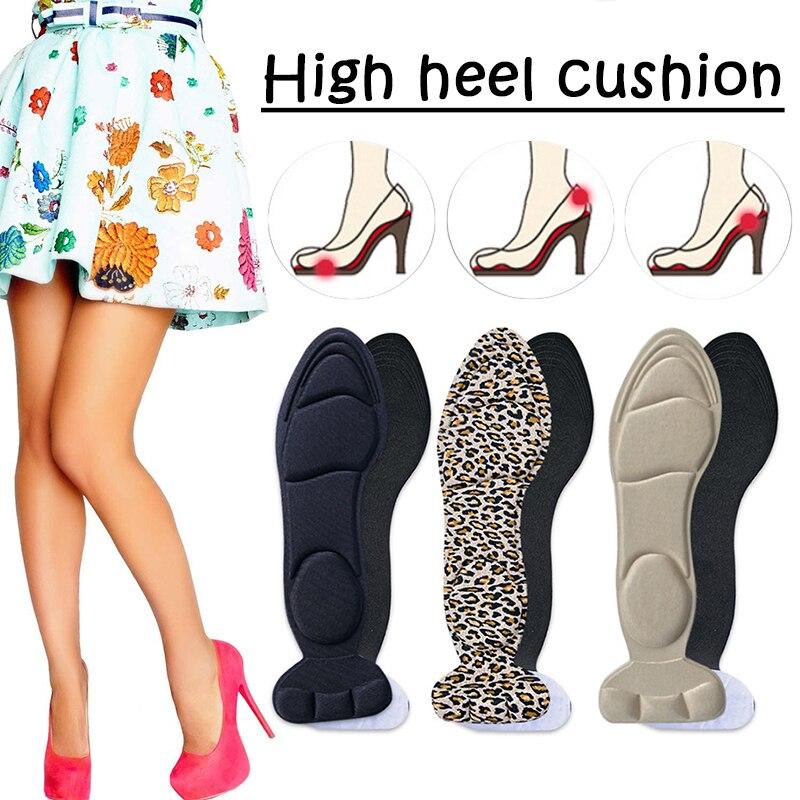 recem calcanhar almofada insercoes esponja sapatos almofadas antiderrapante calcanhar almofadas palmilhas de esponja para mulher 19ing