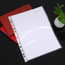 Document Folders File-Organizer Punched Pockets Sleeves Clear Plastic A4 Wallet Filing