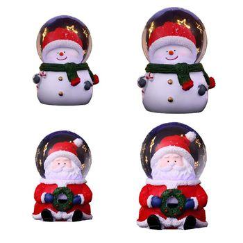 Bola de cristal navideña iluminada para personas mayores, adornos de escritorio Plexiglas