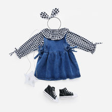 Western Style Tops Shirt 0-1-Year-Old Children Girls Spring Clothing Plaid Thin Infant Cotton 100% Shirt Summer 3 Women's Colleg(China)