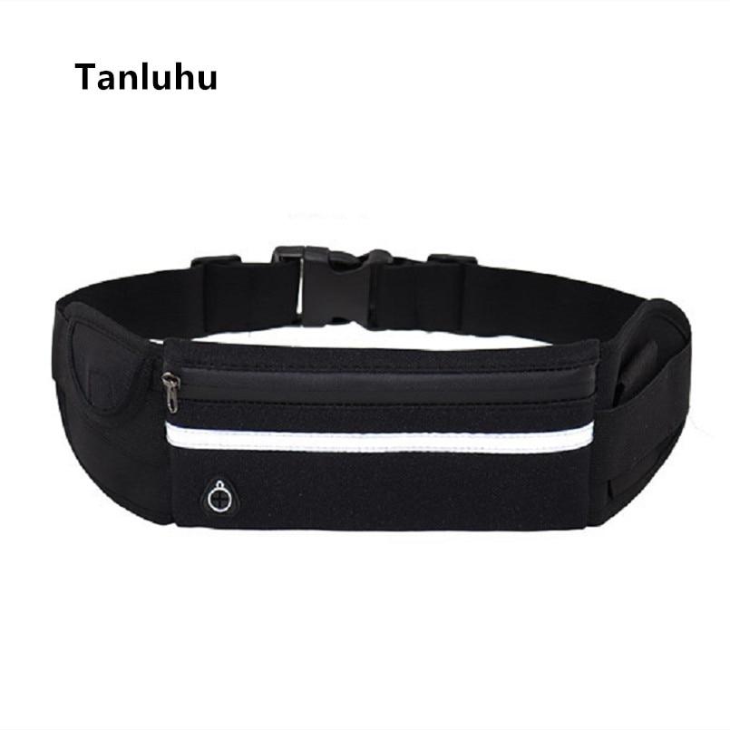 Tanluhu Unisex Multifunctional Travel Waist Bags Lady Cute  And Cool Belt Packs Female Black Comfortable Waist Packs Belly Bags