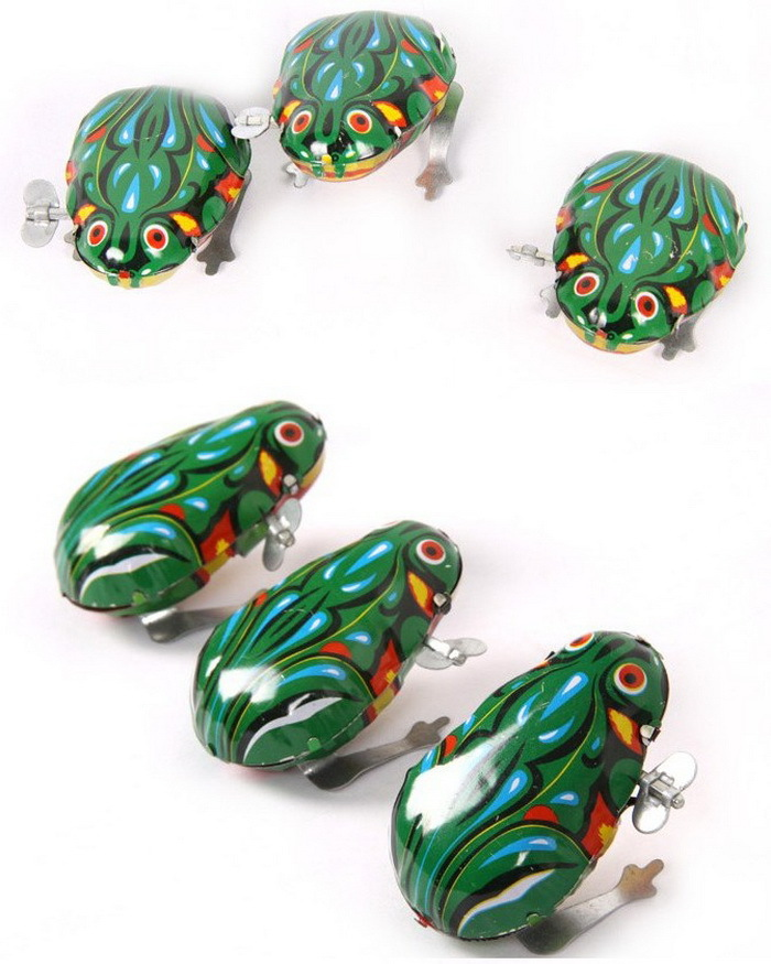 Algam Frog Leap Frog Spring Classic Baby Small Toy Children 80 Nostalgic Retro Chain Wind-up Toy
