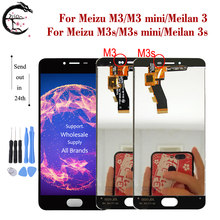 LCD עבור Meizu M3s M3 LCD תצוגת מסך מגע Digitizer הרכבה M3s מיני תצוגת Meilan 3 3s LCD תצוגה meilan3s החלפה
