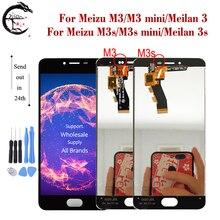LCD Meizu M3s M3 LCD ekran dokunmatik ekranlı sayısallaştırıcı grup M3s mini ekran Meilan 3 3s LCD ekran meilan3s yedek